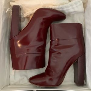 Chloé Cordovan Ankle Boots